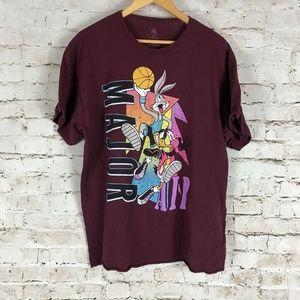 Men's Looney Tunes Basketball T-Shirt Size XL Bugs